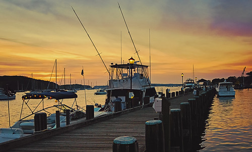 wowographycom summer sunset harbor water boat sky colors dock ny northportny 3616427 nikon d610 1635mm silhouette reflection longisland suffolk 2015 tomreese photography 500px