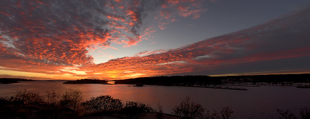 Sunset seen from Laholmen