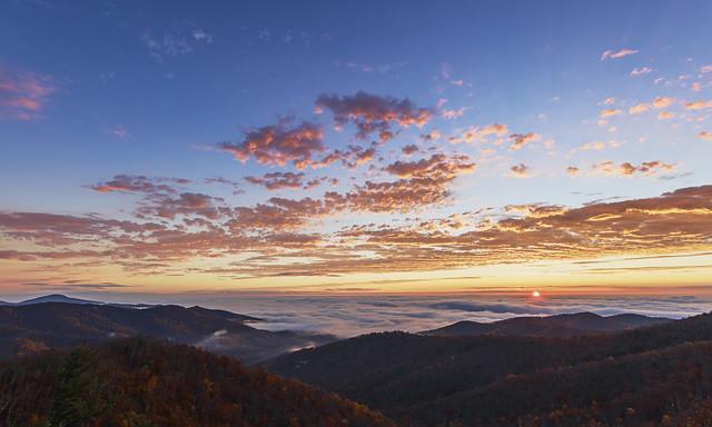 Fog Ocean Sunrise