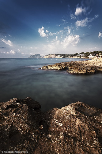 longexposure blue sea sky españa costa seascape azul clouds marina coast mar spain marine mediterranean paisaje alicante cielo nubes mediterráneo moraira costablanca largaexposición recesvintus franciscogarcíaríos haidaslimproiimcnd30
