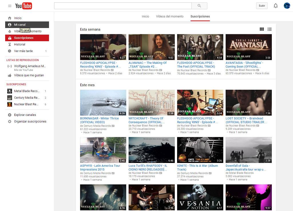 Crear Canal en YouTube