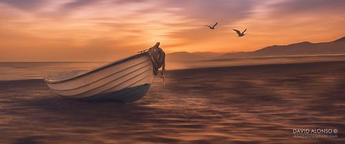 canon landscape picoftheday davidalonsophotocom balerma almería españa mar gaviota paisaje sea goldenhour barca puestadesol verano playa boat beach summer sunset davidbokeh