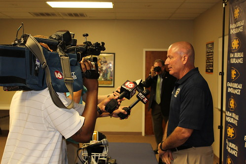 Coach Bland Addresses Media