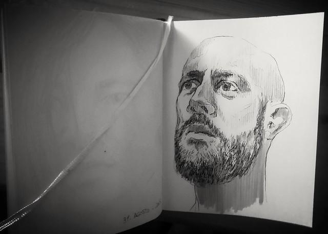 Retrato a rotulador