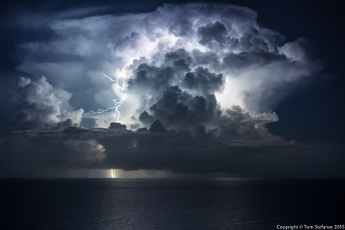 ocean sea summer sky storm beach nature weather clouds landscape us unitedstates florida atmosphere atlantic hollywood tropical electricity thunderstorm lightning convection thunderhead cumulonimbus
