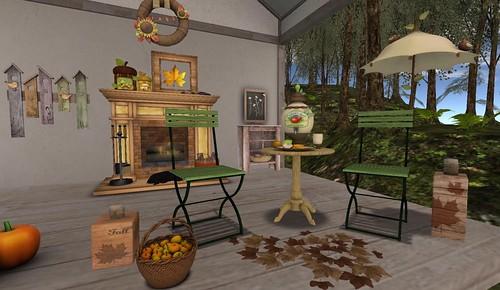 The Mustard Seed: Apple Cider Bistro Set | by Hidden Gems in Second Life (Interior Designer)