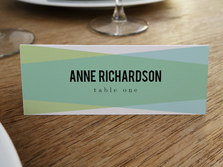 Blue Green Printable Place Card Template