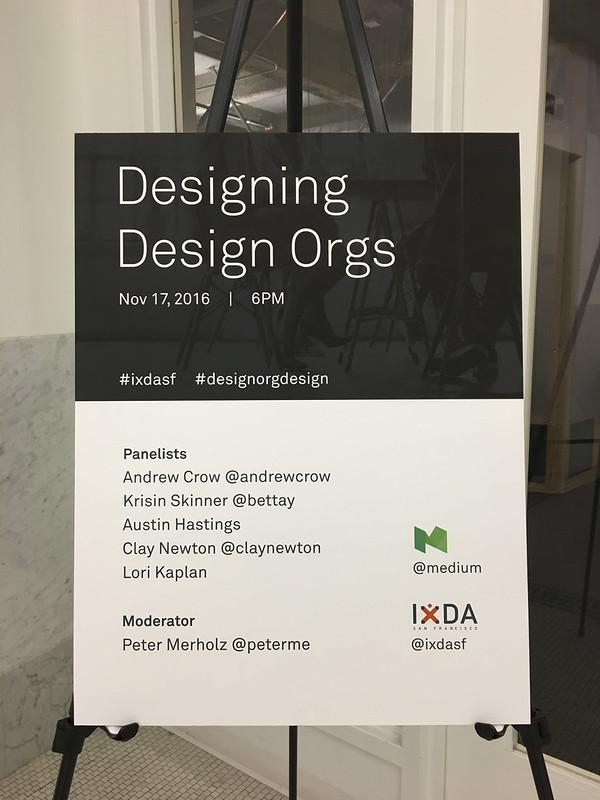 2016: Designing Design Orgs