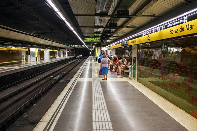 Barcelona - metro station view