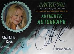 Arrow Autograph - CR - Charlotte Ross as Donna Smoak