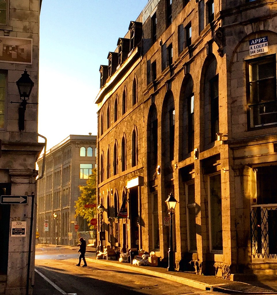 Morning light, old Montreal.