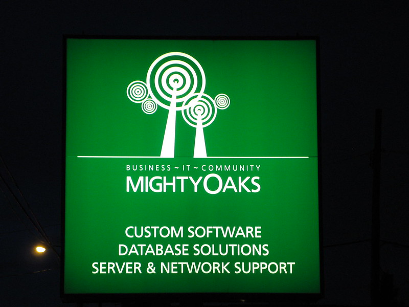 Mighty Oaks night backlit cabinet