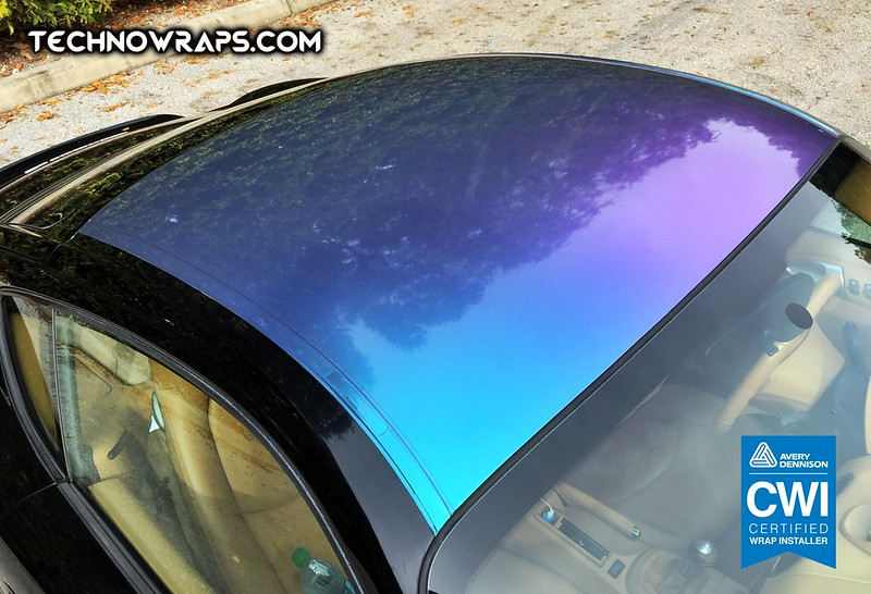 Color shifting roof wrap by TechnoSigns in Orlando