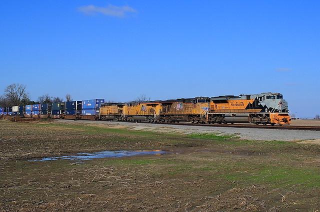 UP 1989 (SD70ACe) Ebony, Arkansas