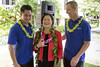 U.S. Senator Mazie Hirono with student veteran scholarship recipients from UH Kauai Community College's nursing program