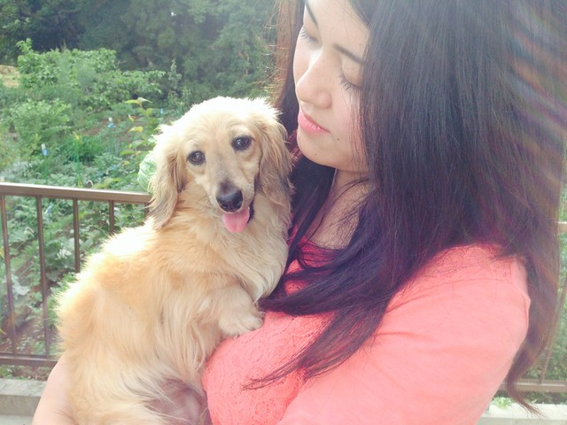 Shiori and her Puppy