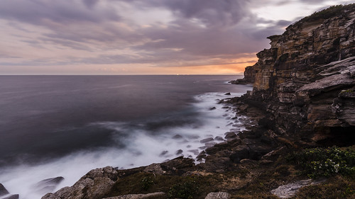 ocean longexposure sunset sea sky colour water clouds sandstone rocks smoke wideangle cliffs pacificocean sigma1020mm nikond7000
