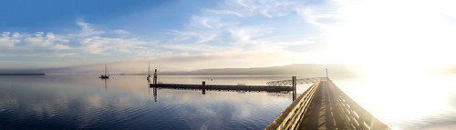 sequimbaystatepark sequim bay state park washingtonstate washington summer 2015 sunrise waterscape landscape om omd om5 water boats morning sun photography panorama docks wood sky clouds patreon