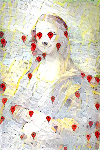 mona lisa + google maps | by Gene Kogan