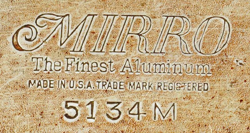 RD9656 Vintage MIRRO Folding Aluminum OMELETTE PAN Maker Cooker Skillet CAMPING 5134M DSC06561