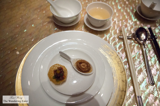 Amuse bouche and premium grade oolong tea
