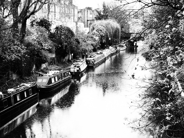 Regents Canal on a Rainy Day