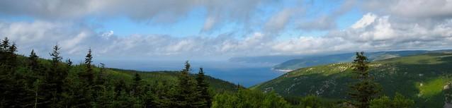 Vue a partir des Hautes terres du Cap Breton ------ Cap Breton Highlands
