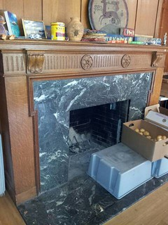Original Marble Fire Place in Dining Area | by Anthro136k Who Owns the Past