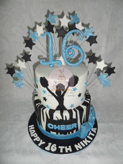 Cheerleading 16th Cake - Copy