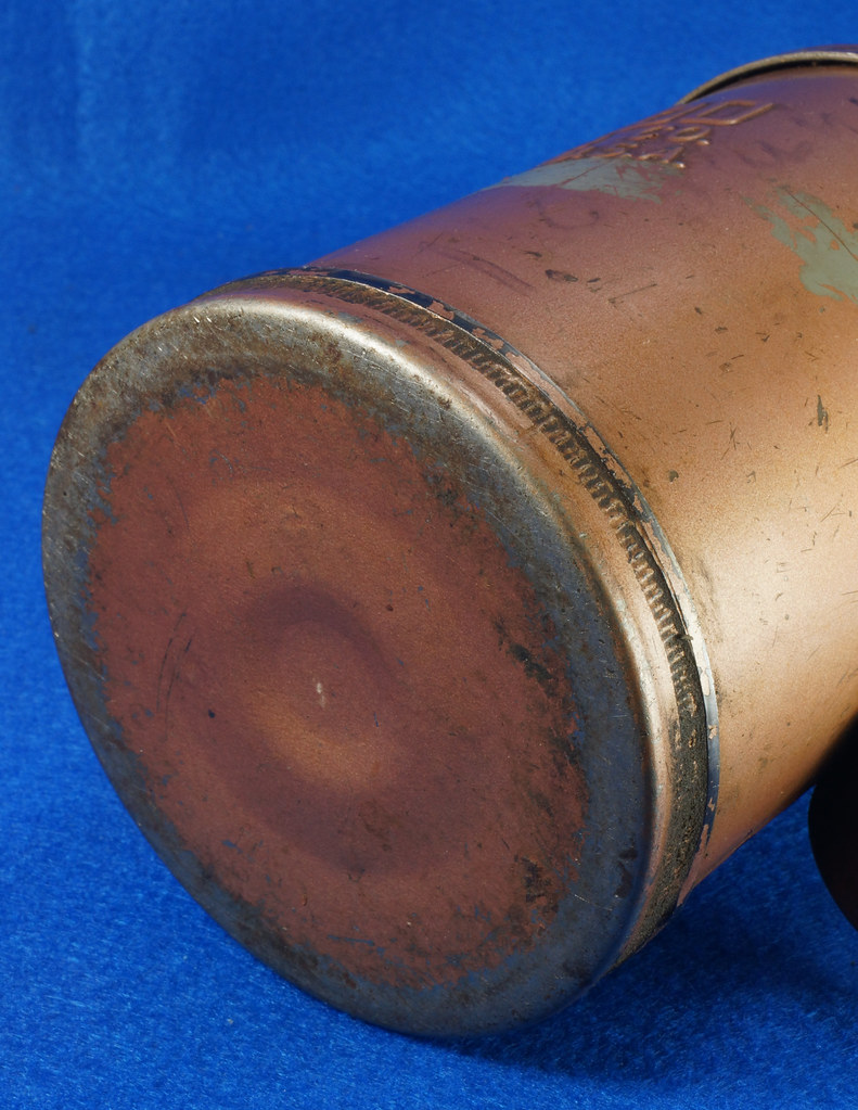 RD9074 Vintage GOLDEN ROD OIL CAN 1.5 Pint DUTTON LAINSON HASTINGS NEBRASKA DSC05762