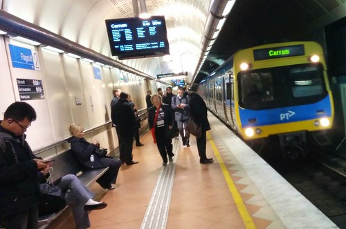 Carrum train arriving at Flagstaff