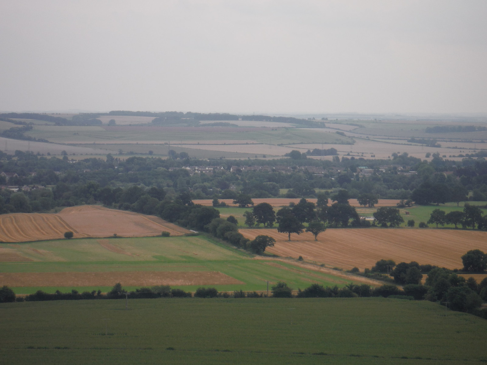 Pewsey from Giant's Grave SWC Walk 127 Pewsey Circular