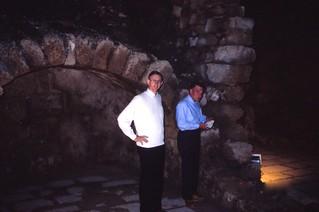 Israel   -   Caesarea   -   John & Col. Irving   -   John TDY   -   28 January 1988