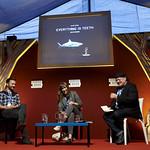 Joe Sumner & Evie Wyld | Joe Sumner & Evie Wyld lament about sharks at the Book Festival © Helen Jones