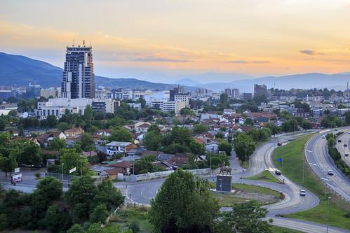 vacation holiday cityscape macedonia mk balkan skopje 2015