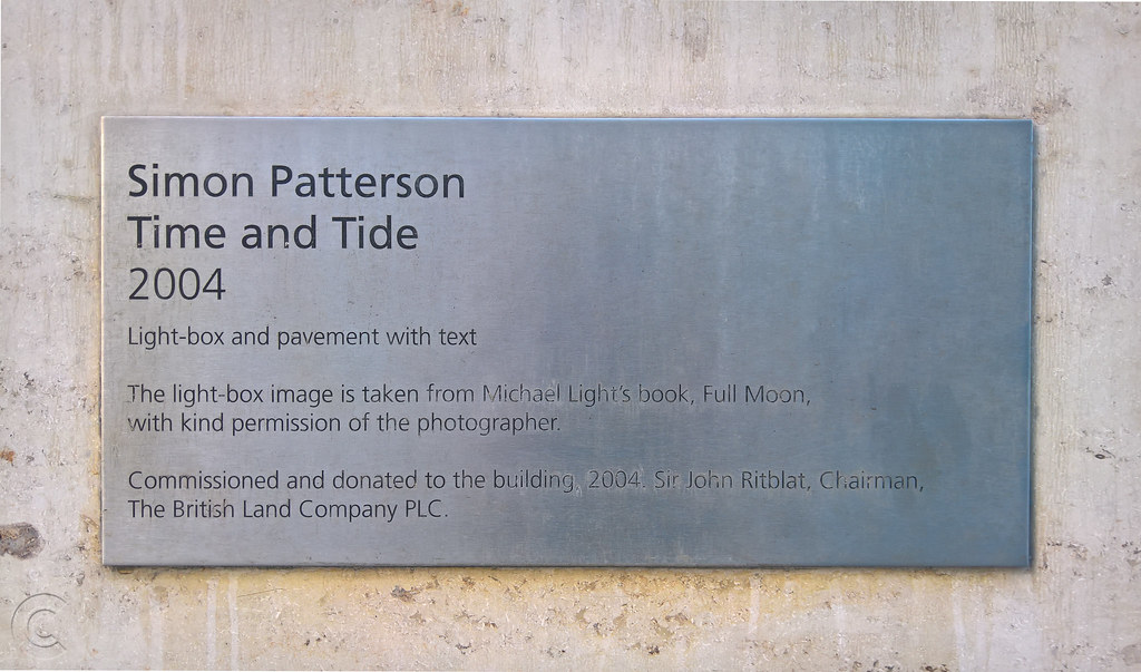Time and Tide plaque