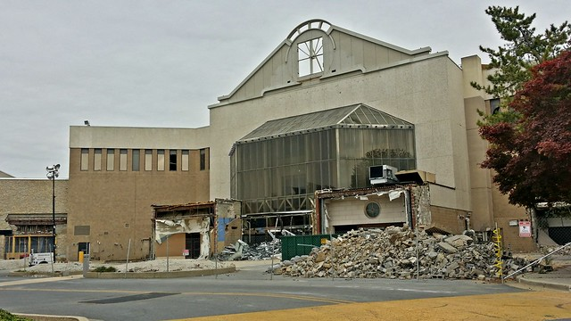 Demolition at the main entrance for White Flint Mall [05]