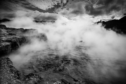 travel indonesia landscape volcano java mud boiling diengplateau dieng kawahsikidang