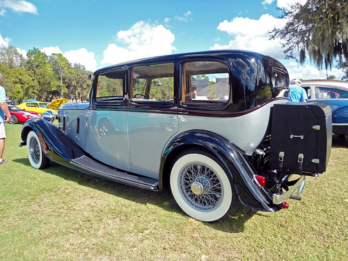 car 1936 vintage automobile florida rollsroyce carshow lecanto