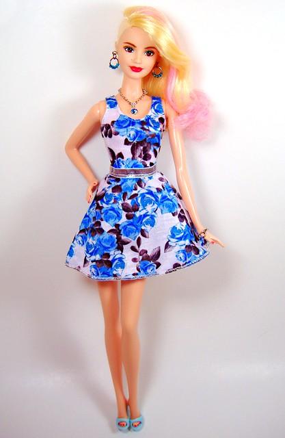 LA Girl in blue roses #1
