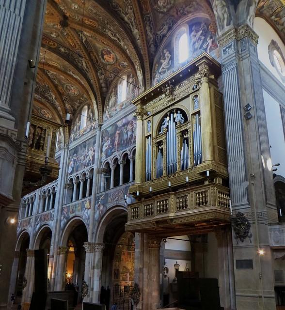 Orgues, cathédrale Santa Maria Assunta (XIIe siècle), Parme, Emilie-Romagne, Italie.