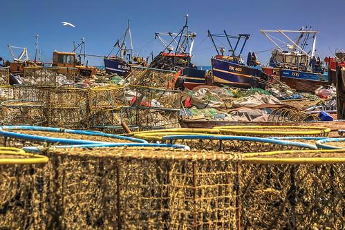 greatbritain sea england sussex boat fishing fisherman fishermen unitedkingdom baskets hastings nets pietro faccioli pietrofaccioli