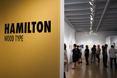 Hamilton Wood Type - Talk & Lawton Gallery Opening