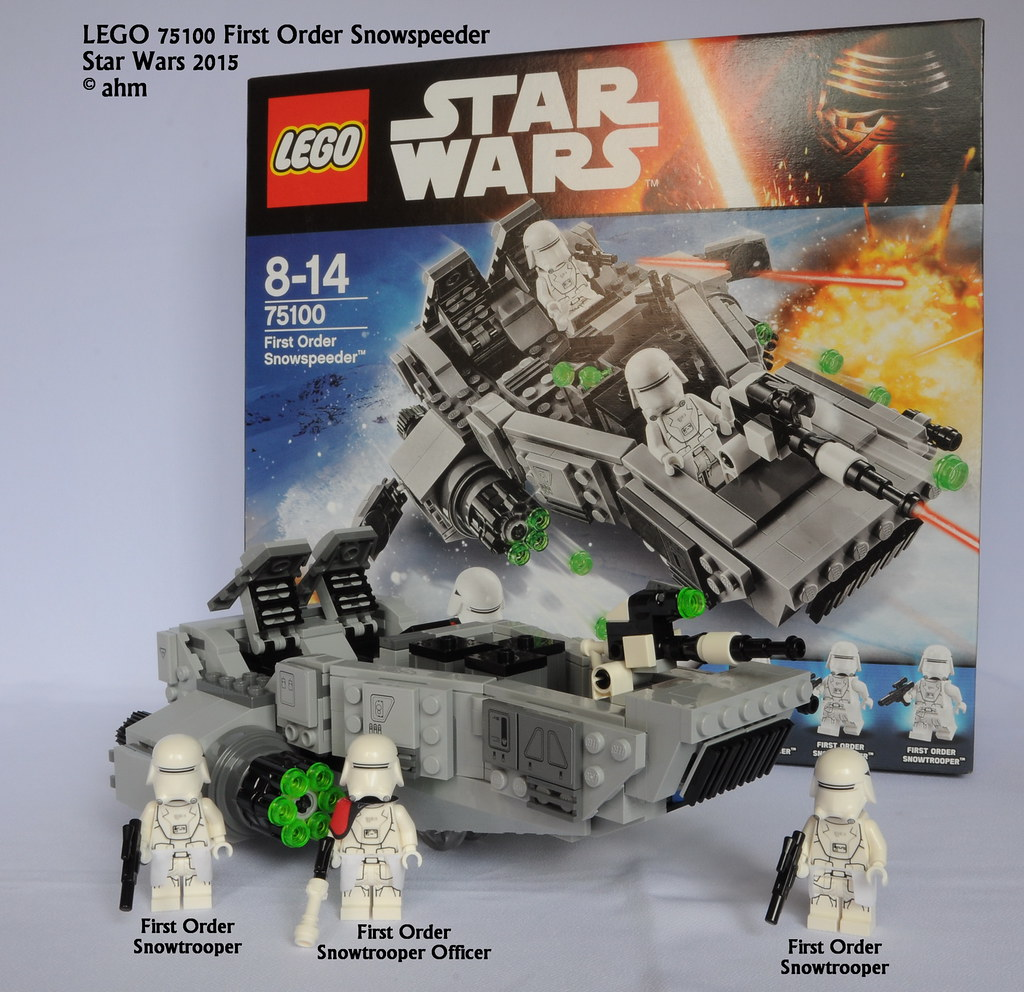 STAR WARS lego FIRST ORDER SNOWTROOPER OFFICER snowspeeder FORCE AWAKENS 75100