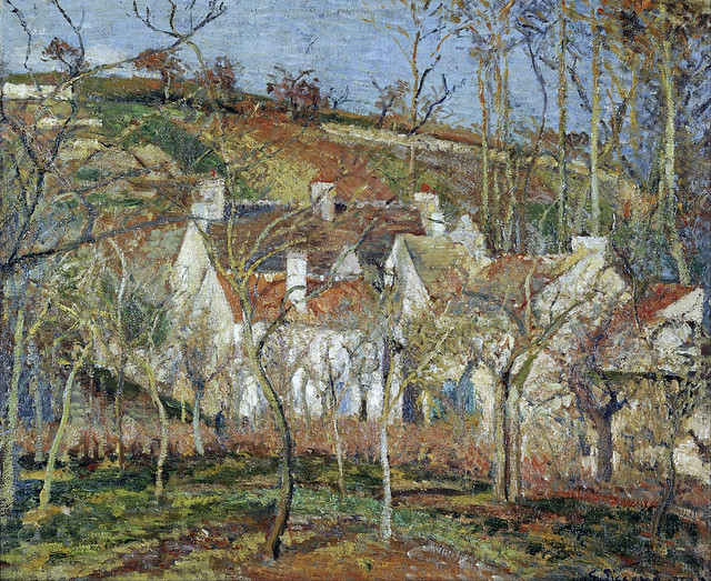 Camille Pissarro - Red roofs, corner of a village, winter [1877]