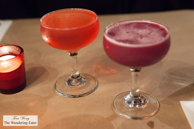 Mademoiselle Cosmo & Cassis Dream cocktails