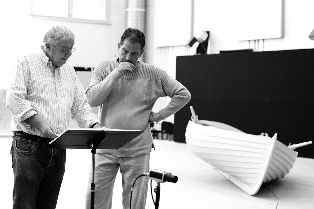 Graham Vick and Will Hartmann as Peter in rehearsal for Morgen und Abend, The Royal Opera © 2015 ROH. Photograph by Andrej Uspenski