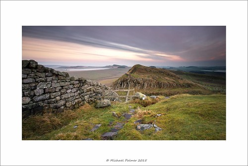 sunset england wall canon landscape eos long exposure explore northumberland filter le lee 7d nd usm northeast graduated hadrians crag housesteads efs1022mm f3545 michaelpalmer bigstopper