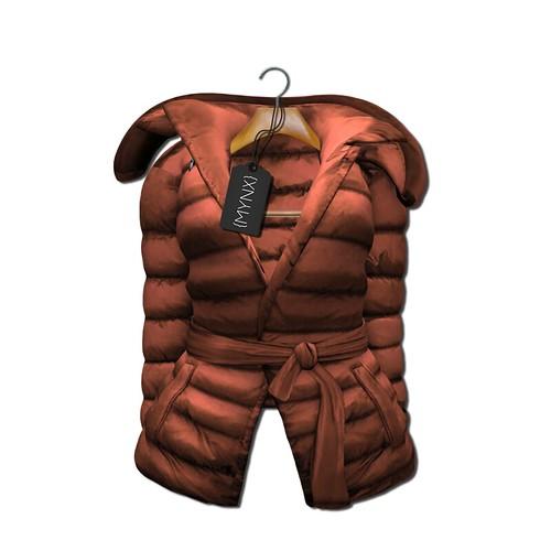 {MYNX} Puffy Tie Jacket - Sienna Ad