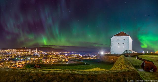 Beautiful Trondheim from Kristiansten Festning (Fortress)
